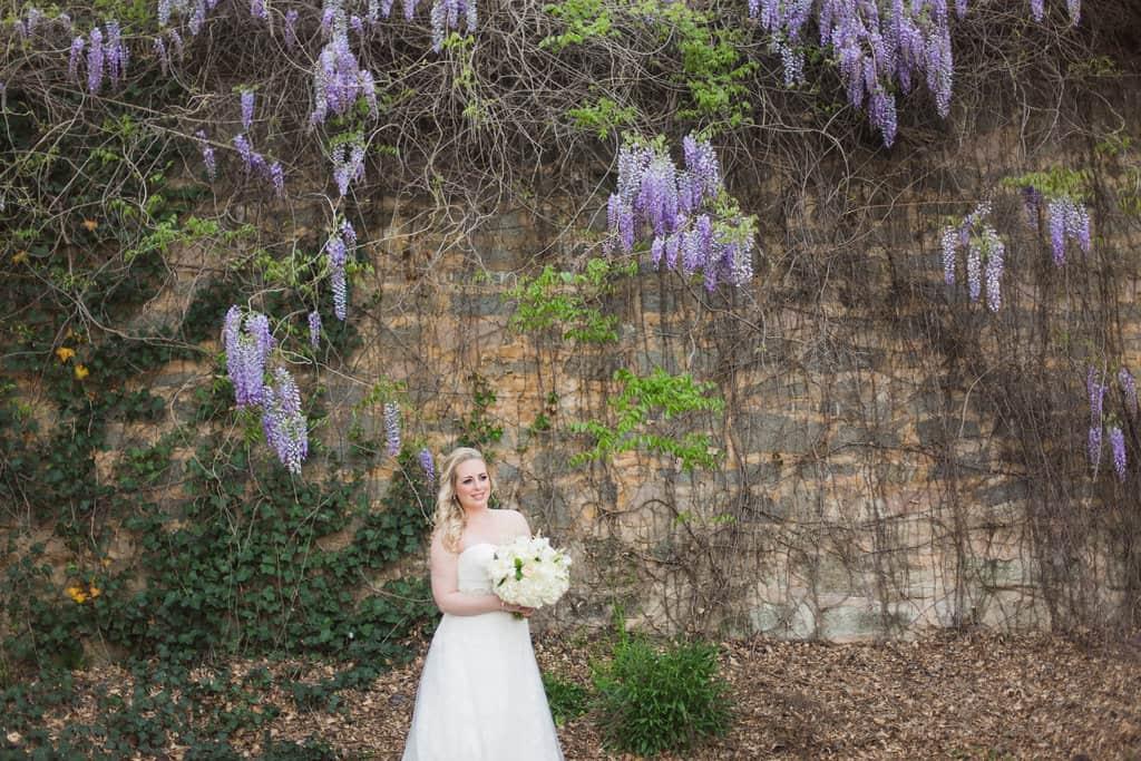 Bridal Portrait Charlotte NC Garden