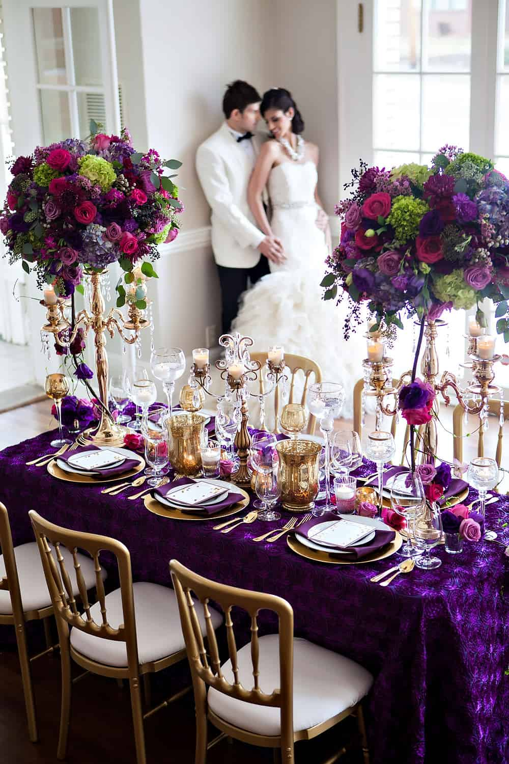 Separk Mansion Wedding U2013 Table Setting Bride Groom2