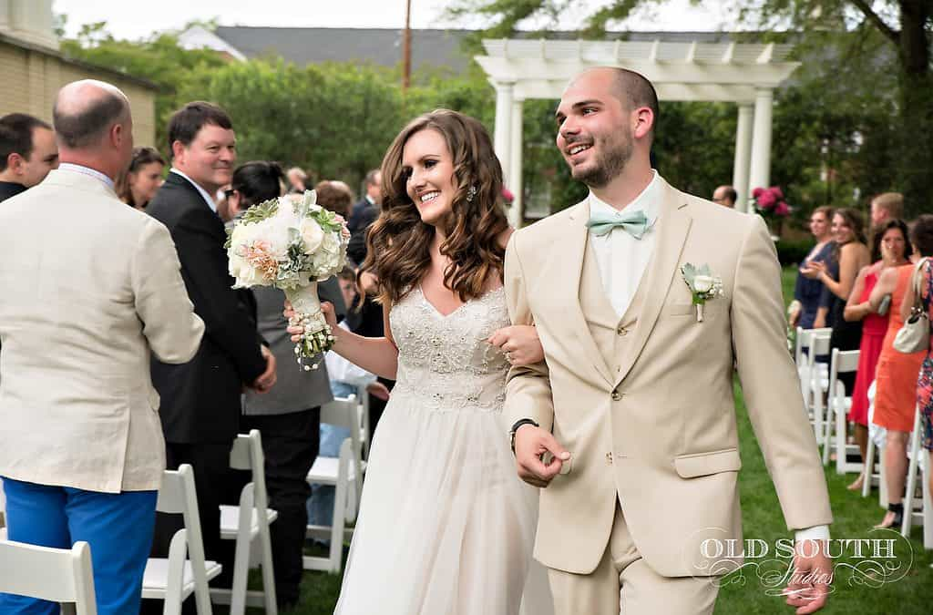 charlotte outdoor garden wedding