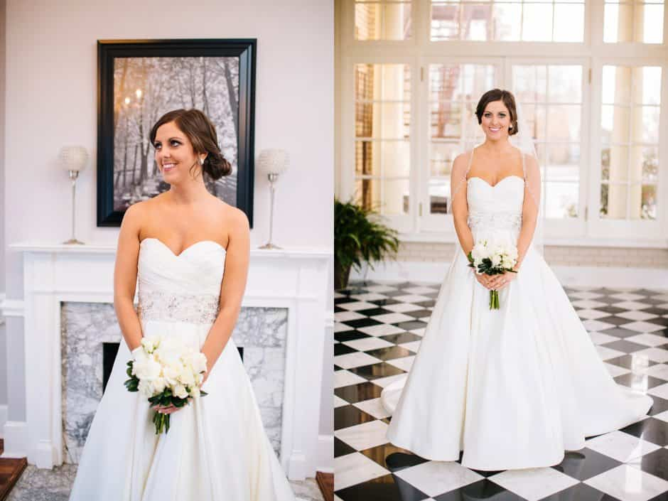 Bridal Portrait at Charlotte NC Mansion