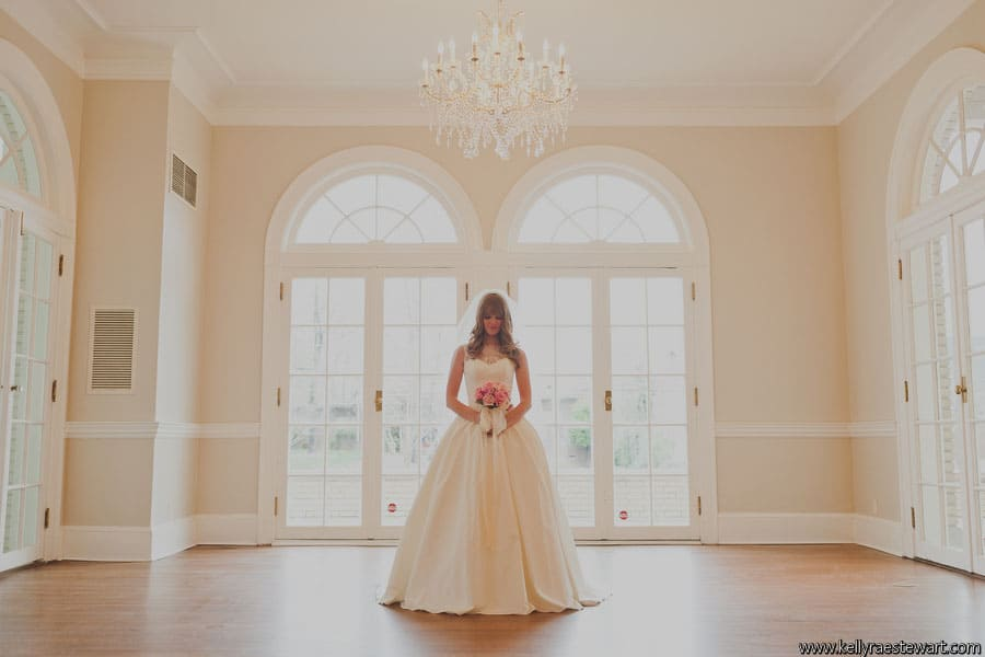 Bridal Portrait in Charlotte Separk Mansion Ballroom