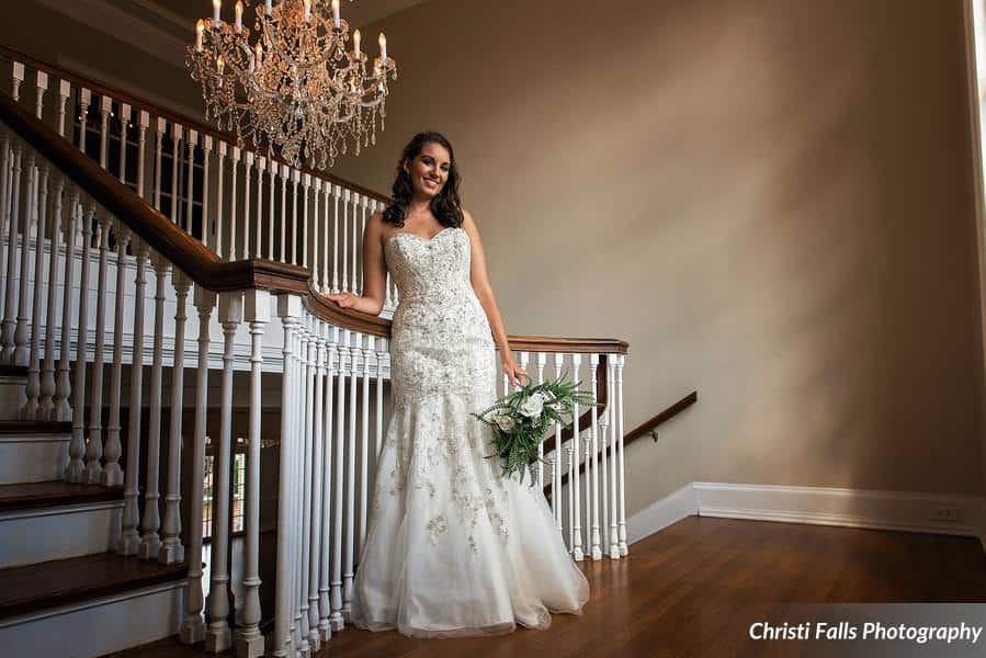 Charlotte NC Bridal Portrait Mansion