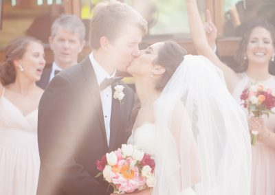Bride-Groom Kissing