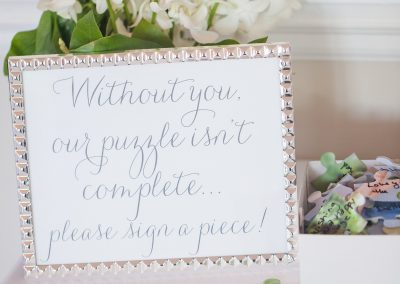 Wedding Puzzle at Charlotte Wedding