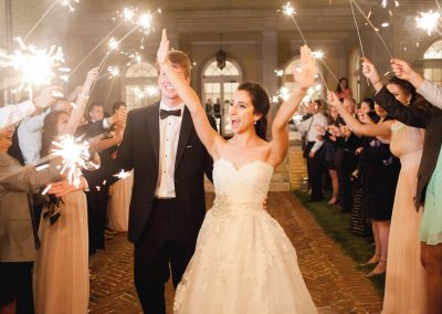 Sparkler Exist from Wedding at Separk Mansion
