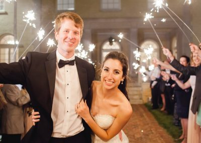 Sparkler Exist from Wedding