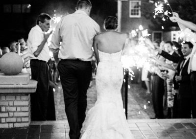 Wedding Sparkler Exit at Charlotte Wedding Venue